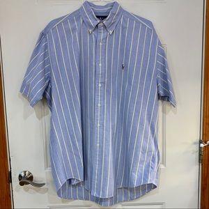 Ralph Lauren Short Sleeve Blake Blue Stripe L